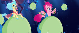 MLP The Movie Moviepilot - Pinkie and Skystar on giant fish