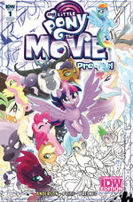 MLP The Movie Prequel issue 1 SDCC cover