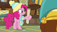 Pinkie taking Prince Rutherford's map MLPBGE