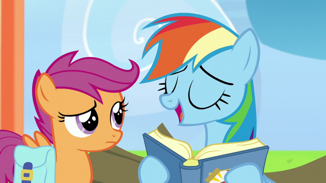 """File:Rainbow Dash """"still in the Junior Flappers' Club"""" S7E7.png"""