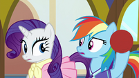 Rarity and Dash realize their answers were different S8E17