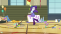 Rarity sweeping and lovestruck Spike EG.png