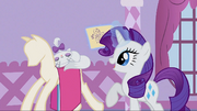 Rarity talking to Opalescence