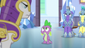 Royal guards distance themselves from Spike S6E16.png