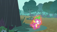 Spike starts glowing red again S8E11