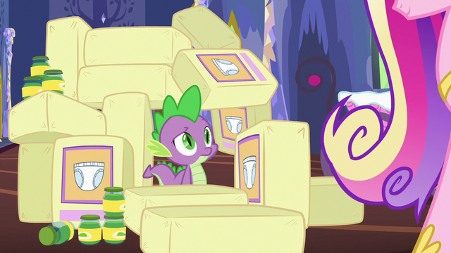 File:Spike surrounded by diapers and baby food S7E3.png