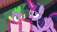 Twilight Sparkle asks about class projects S8E1