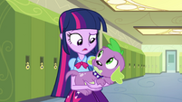 Twilight e Spike perplexos EG