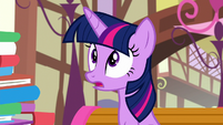 Twilight surprised to see her friends upset S8E18