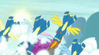 Wonderbolts burst through clouds S8 opening