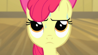 Apple Bloom with sweat on her face S4E17