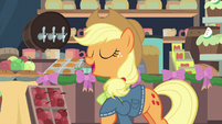 "Applejack ""the family's almost here"" MLPBGE"