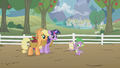 Applejack and Twilight listening S1E03.png