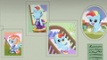 Baby pictures of Rainbow Dash on the wall S7E7.png