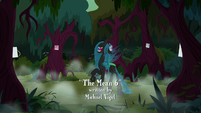 Chrysalis laughing in the middle of ring of trees S8E13
