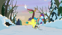 Discord falls face-first in the snow MLPBGE