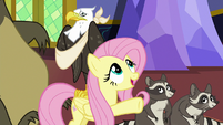 Fluttershy --better off up in one of the towers-- S6E21