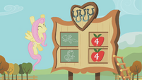 Fluttershy cheers for Rainbow Dash S01E13