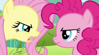 Fluttershy insults Pinkie's passion for parties S2E19