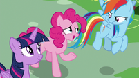 Pinkie Pie agreeing with Scootaloo S8E20