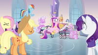 Princess Cadance crown in air S3E12