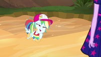 "Rainbow Dash ""just takin' a rest in here"" EGSB"