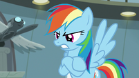 Rainbow Dash crosses her hooves in anger S9E21