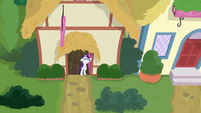 Rarity watches Spike and Gabby leave S9E19