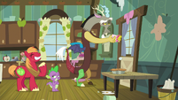 Spike and Big Mac proud of themselves S8E10