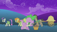 Spike planting seeds after sunset S1E11