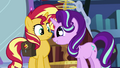 Starlight Glimmer giving Sunset wide, starry eyes EGS3.png