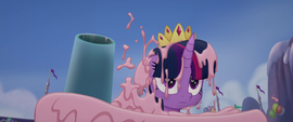 Twilight Sparkle covered in cake MLPTM