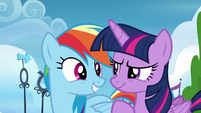Twilight and Rainbow looking confident S6E24