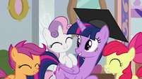 Twilight happy for the Cutie Mark Crusaders S8E12
