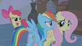 Apple Bloom behind Dash and Fluttershy S1E09.png