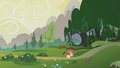 Apple Bloom heading into the Everfree Forest S1E09.png