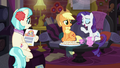 Applejack and Rarity in Coco's home S5E16.png