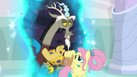 Discord gives Fluttershy a bag lunch S9E26