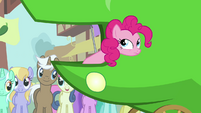 Pinkie Pie thinking about what Scootaloo said S3E4