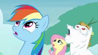 Rainbow, Fluttershy and Bulk sees Soarin falling S4E10