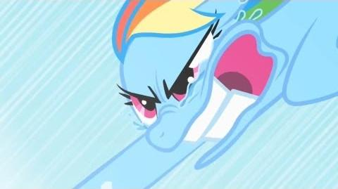 Rainbow Dash - Sonic Rainboom Training Fail