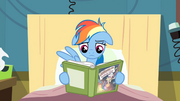 Rainbow Dash reading book with no excitement S2E16