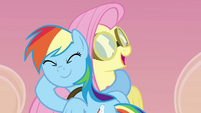 Rainbow and Fluttershy hug S2E22