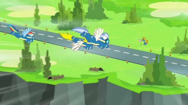 File:Rainbow and Wonderbolts fly toward the ground S6E7.png