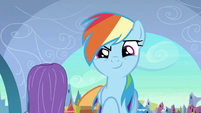 Rainbow succeeded scaring the ponies off S3E2