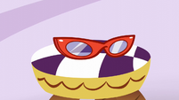 Rarity's glasses on a chair S6E9