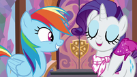 "Rarity ""at the drop of a fabulous hat!"" S8E17"