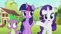 Rarity --are you certain everything you just did-- S6E10