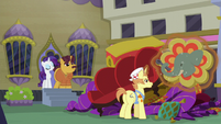 Rarity and Coriander see sign get hauled away S6E12