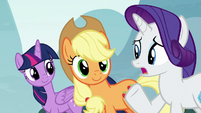 "Rarity corrects herself ""absolutely"" S8E18"
